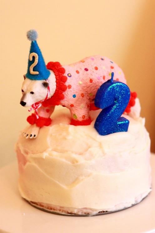 Polar bear custom cake topper