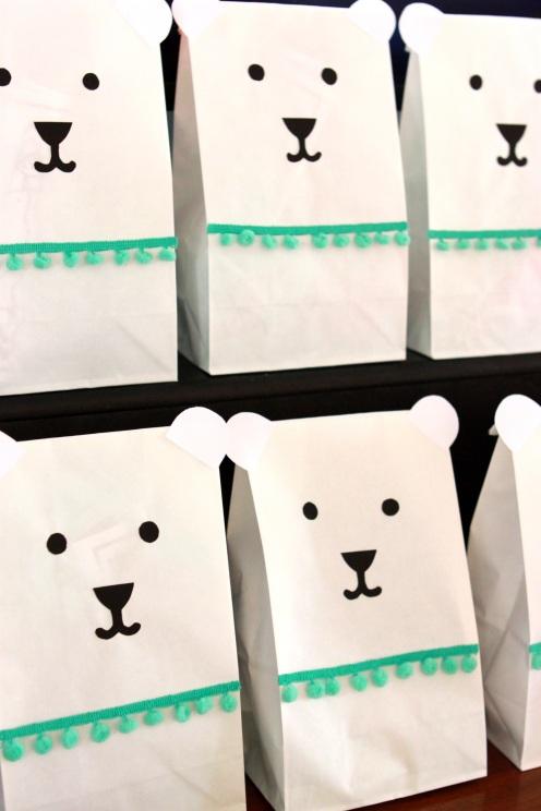 Polar bear party gift bags