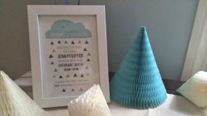 Sprinkle invitation framed