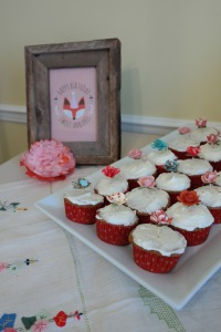 Fox party cupcakes