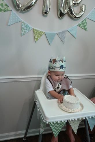 The birthday boy and his smash cake