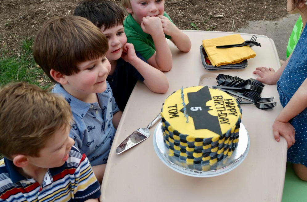 Oogling the cake